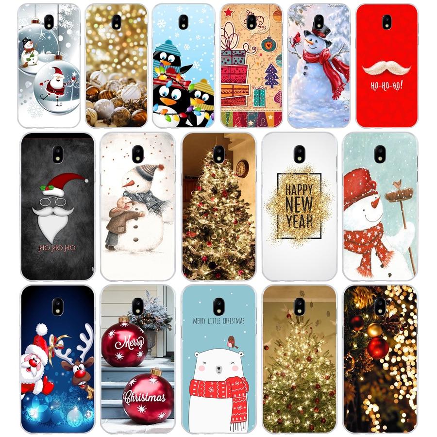 266H счастливого Нового года Счастливого Рождества Мягкий Силиконовый ТПУ чехол для телефона Samsung j3 j5 j7 2016 2017 a3 2016 a5 2017 a6 2018