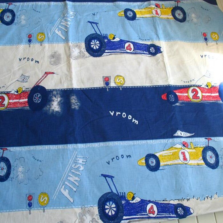 Dibujos Animados Kart racer AB sarga 100% tela de algodón niños tela para ropa de cuna telas para coser patchwork acolchado ancho 1,6 M