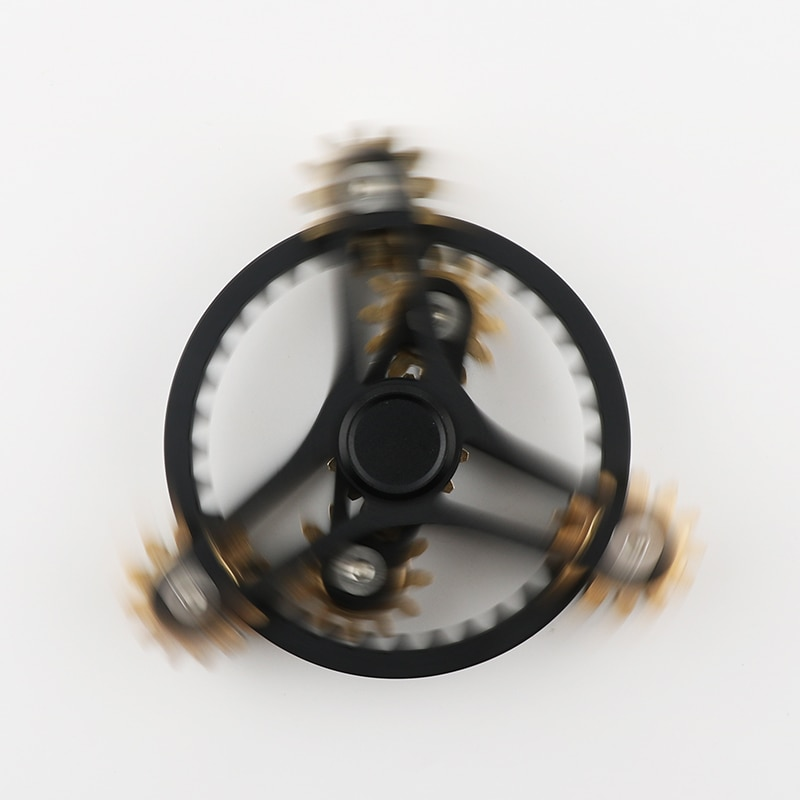 Tri-Spinner Hot Wheels Gear Teeth Linkage High-quality  Metalen Fidget Spinner Hand Spinner Finger Anti Stress Adult toys enlarge