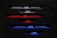 Qirun은 Isuzu NQR NRR 오아시스 용 라이닝 임계 값 환영 장식 램프를 오버레이 이동 도어 스커프 플레이트 창턱을 사용자 정의