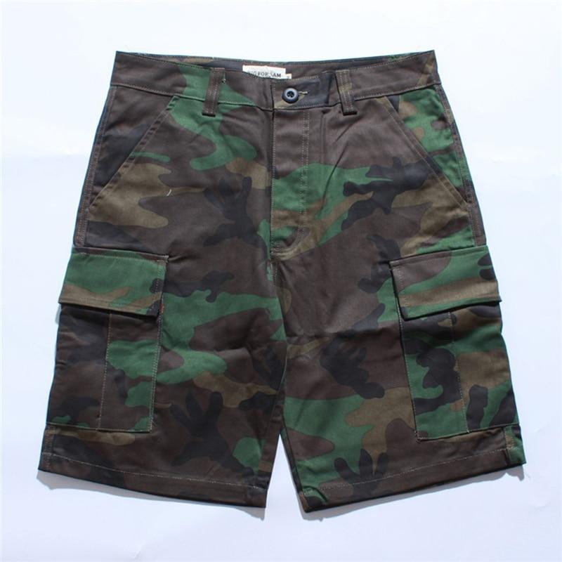 Men's Camouflage Shorts 2019 Streetwear Multi-pocket Cargo Joggers Shorts Men Europe America Hip-Hop Knee Length Clothes S-3XL