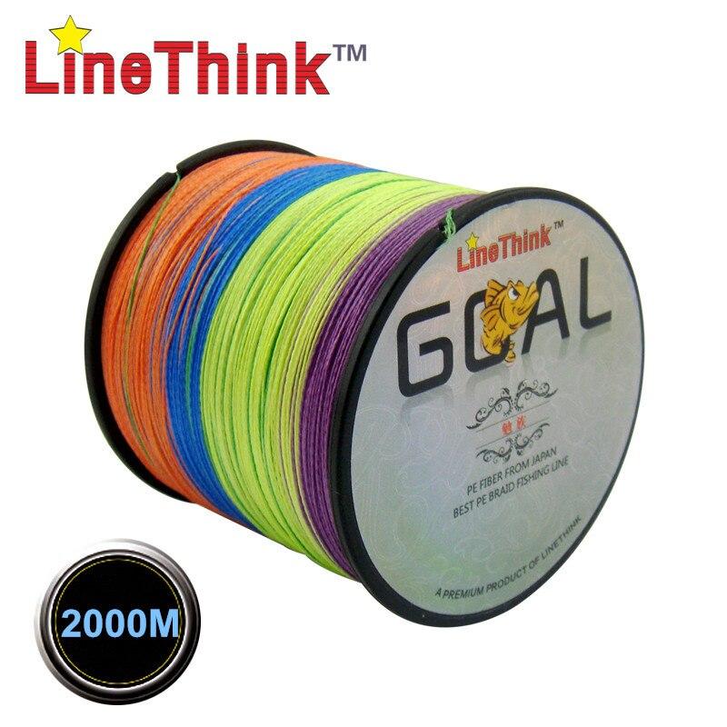 2000M LineThink marca objetivo mejor calidad multifilamento 100% PE línea de pesca trenzada de pesca trenza envío gratis