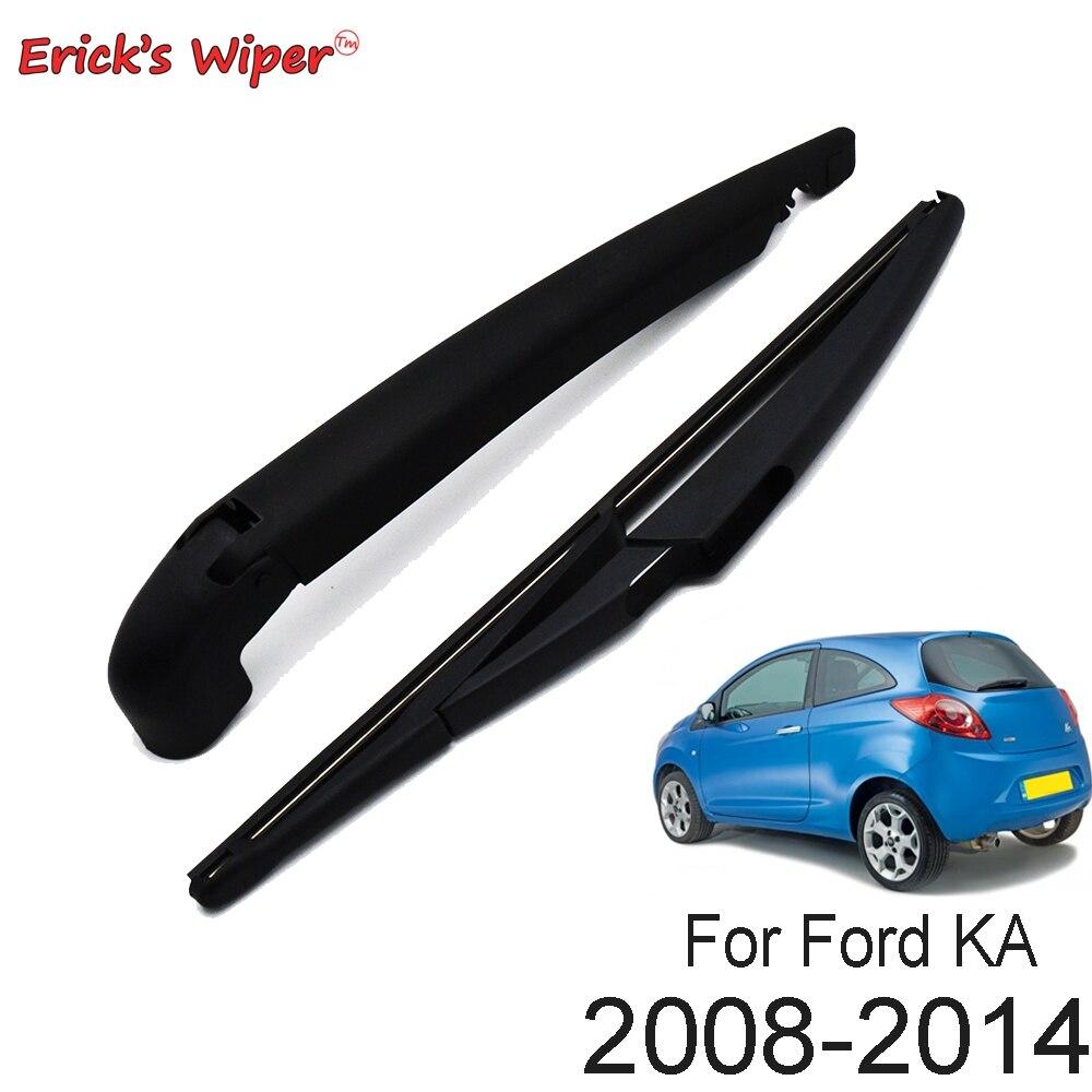"""Erick es Limpiaparabrisas 11 """"limpiaparabrisas trasero y Kit de juego de brazo para Ford KA MK2 Hatchback 2008 - 2014 parabrisas de la ventana trasera"""