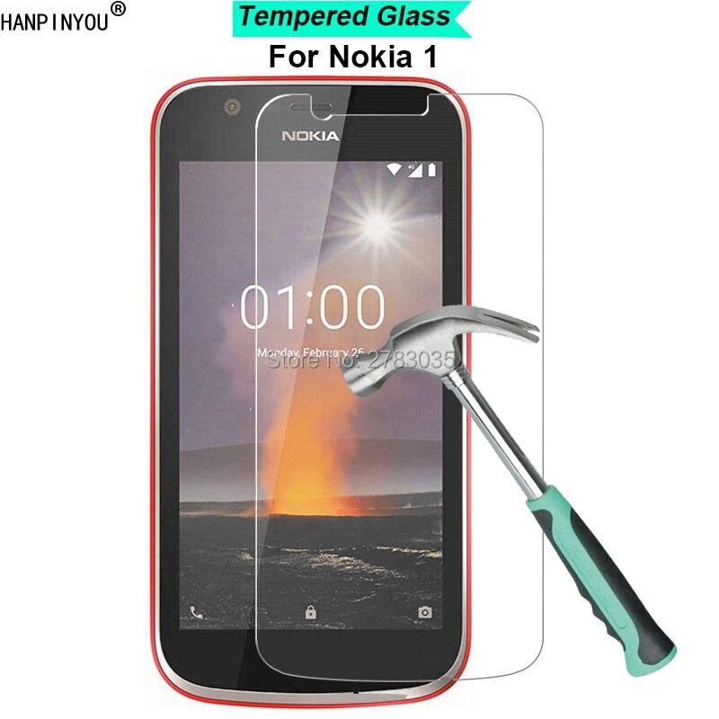 """Para Nokia 1 2018 teléfono Android Nokia1 4,5 """"Nuevo 9 H dureza 2.5D vidrio templado Ultra fino protector de pantalla de película"""