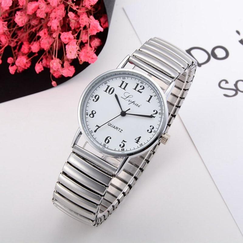 Reloj Mujer 2019 New fashion couple watch women casual quartz watches men stainless steel wrist watc