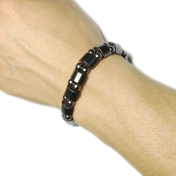 Купить с кэшбэком Magnetic therapy Health care Loss Weight Effective Black Stone Bracelets slimming Stimulating Acupoints  Arthritis Pain Relief