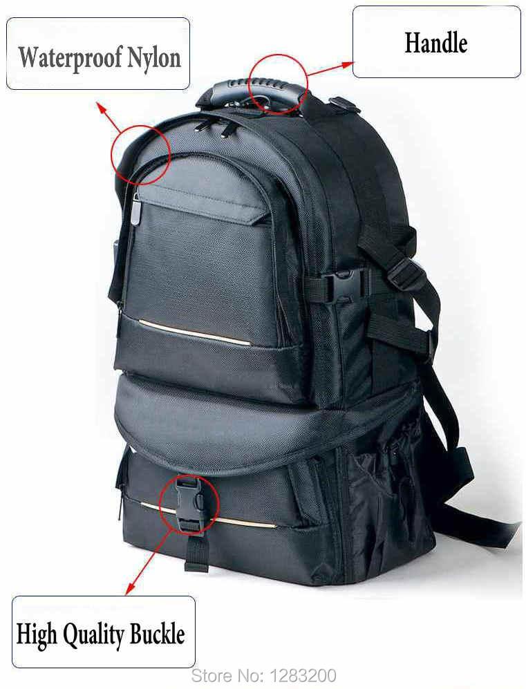 حقيبة ظهر مقاومة للماء لكاميرا DSLR ، حافظة خارجية لكاميرا Nikon ، Canon ، Sony ، Fuji ، Pentax ، Olympus ، Leica