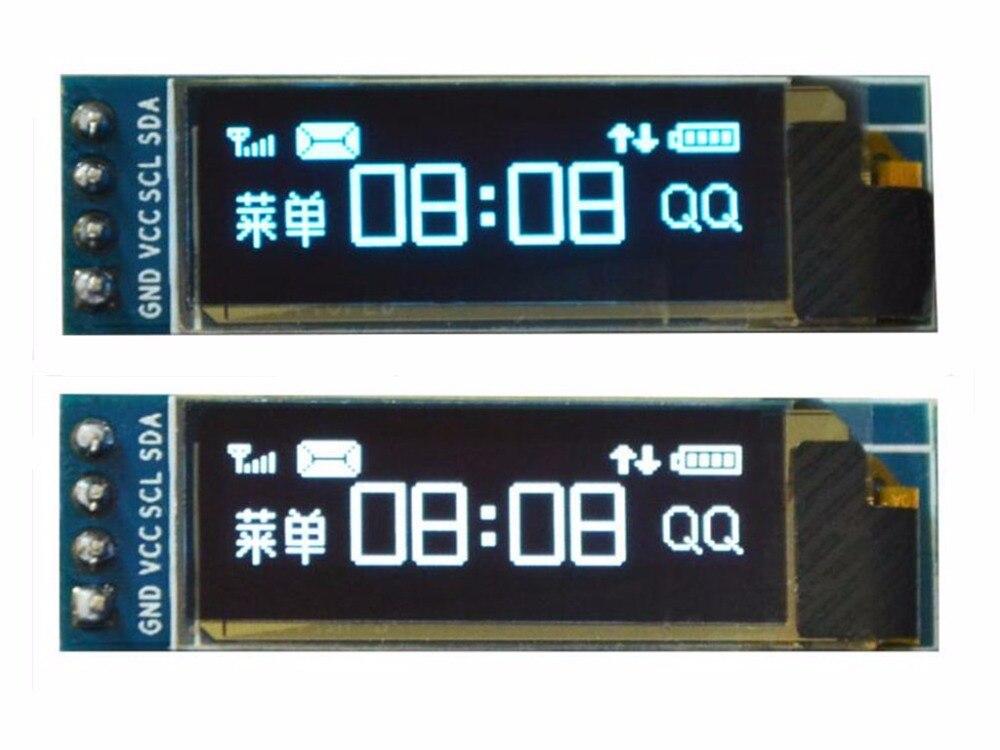 0.91 Inch I2C Oled Module 12832 SSD1306 Controller Scherm Met Pcb Basisplaat 4PIN