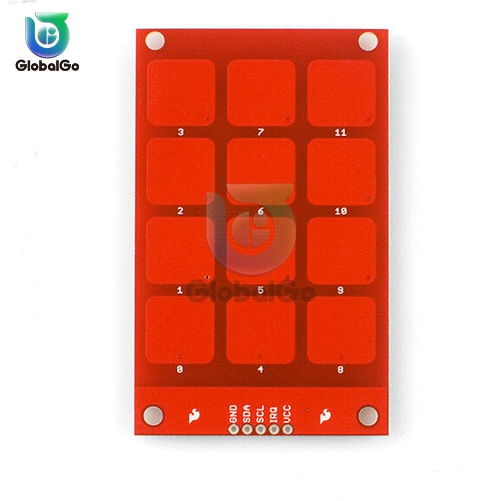 MPR121 Kapazitiven Touch Sensor Modul Sensor Tasten Tastatur I2C Ausgang 3,3 V