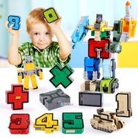 Развивающие строительные блоки GUDI 15 в 1, экшн-фигурка, роботы, автомобиль-трансформер, цифры, буквы алфавита, математическая игрушка