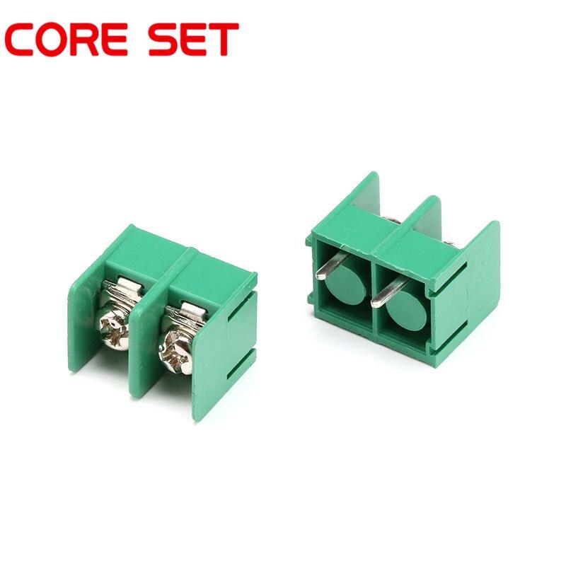 10 unids/lote KF7.62 7,62 MM 2Pin PCB tornillo conector de bloque de terminales KF7.62-2P 300 V/20A