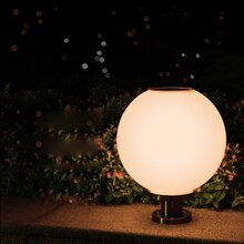 Modern minimalist solar street lights outdoor waterproof rust ball super bright post lights LED lamp bead lighting decorative