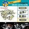 Cawanerl – Kit de puces 2835 Canbus LED dôme intérieur blanc lampe de plaque d'immatriculation pour Audi A4 S4 (B5) de 1998 à 2001