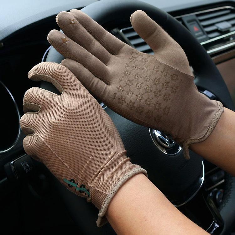 Gants de printemps et dété courts élastiques   Pour hommes, protection solaire plein écran tactile, gant de conduite R1241