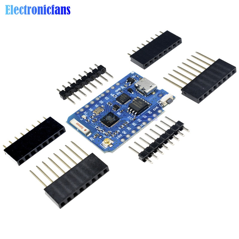 WeMos D1 Mini ESP8266 WIFI Modul Bord Pro 16M Bytes Externe Antenne Contor ESP8266 WIFI IOT Entwicklung Bord Micro USB