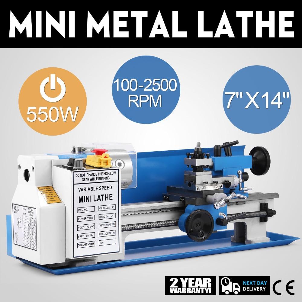 مخرطة معدنية صغيرة عالية الدقة ، آلة جديدة متغيرة السرعة لمنضدة العمل