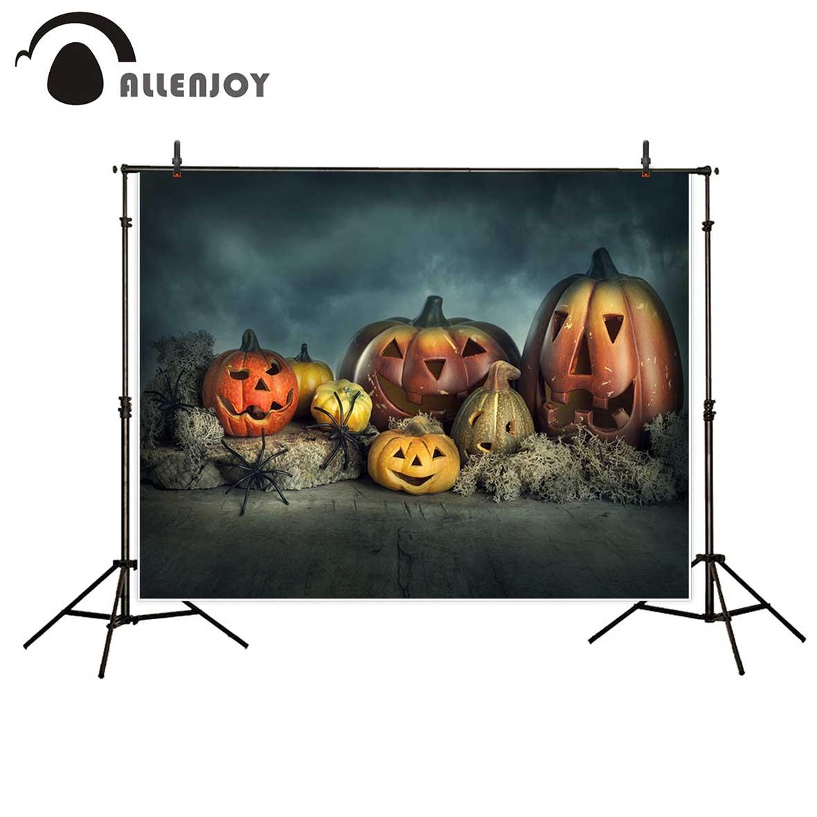 Allenjoy fotografía Fondo calabaza Halloween decoración araña recién nacido fotografía Fondo fond estudio foto