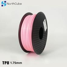 3D Druck Filament TPU Flexible Filament TPU Flex Kunststoff für 3D Drucker 1,75mm 0,8 KG 3D Druck Materialien Rosa