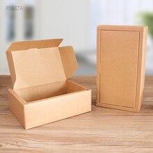 10 pièces-boîtes demballage de thé en papier Kraft blanc bricolage