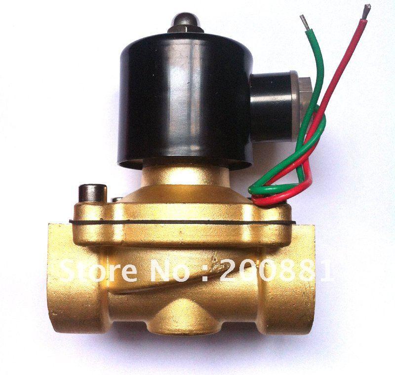 "3/4 ""2 w series 2/2 way normalmente cerrado agua aire aceite 2W200-20 AC220V válvula solenoide de latón"