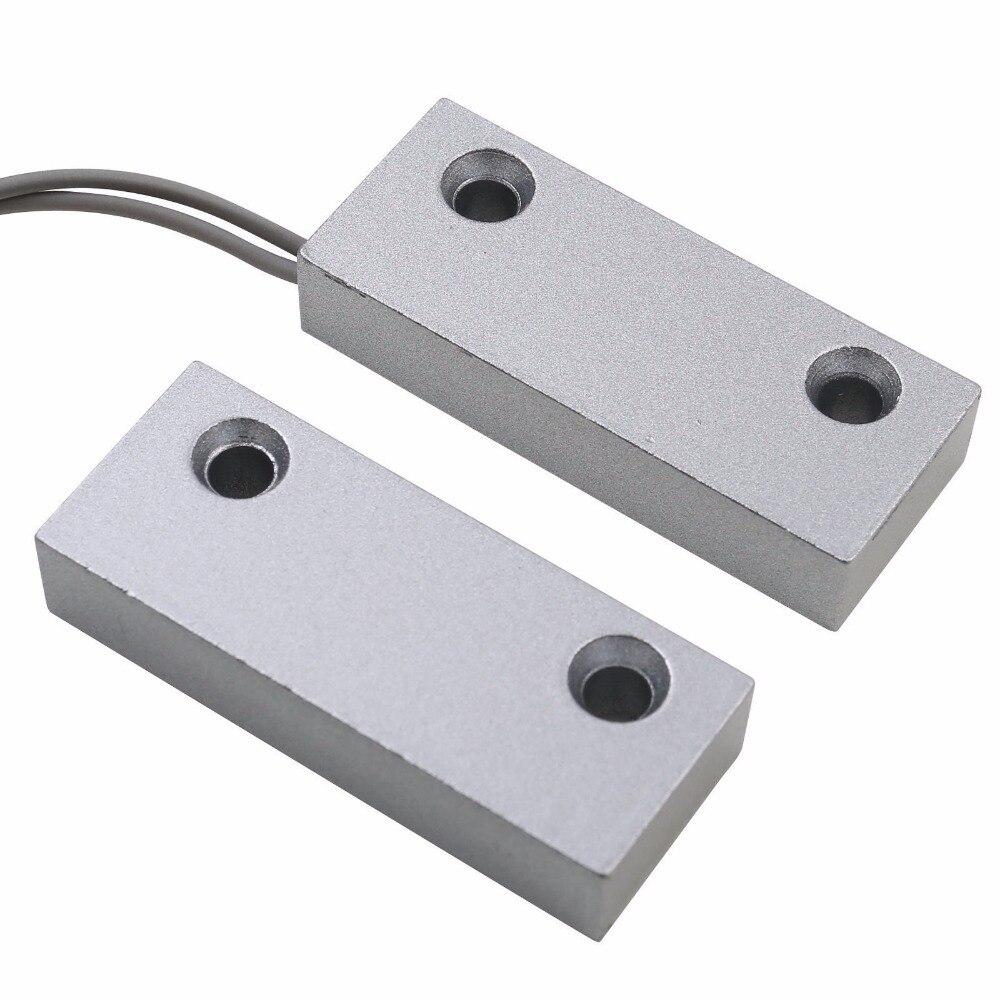 Wired Metall Rolltor Magnetkontaktschalter Alarm Tür Magnetschalter Hauptwarnungssystem NO NC verfügbar