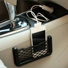 Araba örgü Net çanta araba organizatör evrensel depolama Net tutucu cep için E46 yaratıcı muhtelif örgü çanta araba Styling aksesuarları