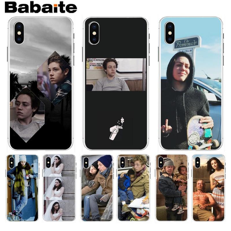 Babaite shameless tv mostrar padrão borracha macio acessórios do telefone capa para iphone8 7 6 s plus x xs max 10 5 5S se xr coque escudo