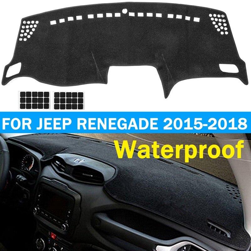 Alfombrilla para salpicadero de coche Autoleader, alfombrilla antideslizante para tablero, cubierta para jeep Renegade 2015 2016 2017 2018 para conducción a mano izquierda