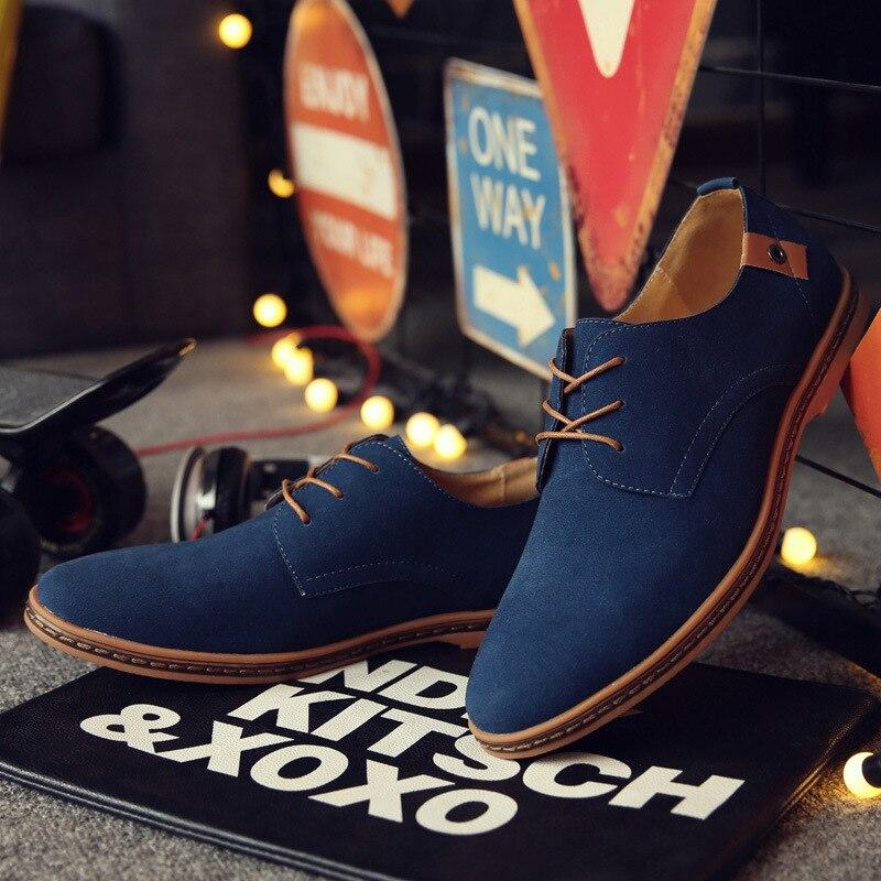 Zapatos Oxford de cuero Casual 2020 para hombre, suela de goma antideslizante, cómodos zapatos de talla grande para hombre, regalo de Navidad