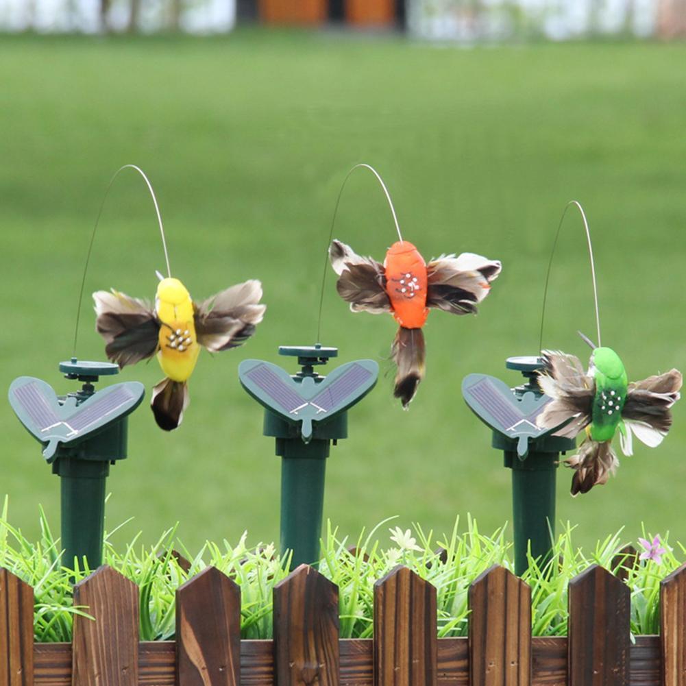 45 # batería de energía Solar alas de plumas voladoras artificiales Jardín de jardín Jardín Plantas adorno de flores decoración del jardín