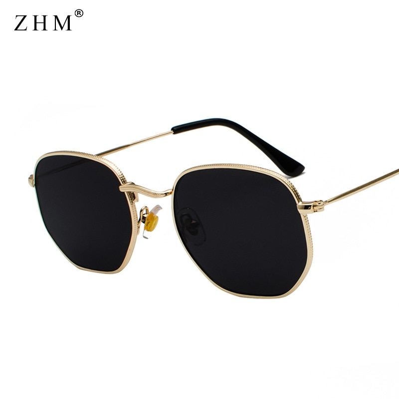 2021 Vintage Sunglasses Men Square Metal Frame Sunglasses Pilot Mirror Classic Retro Sun Glasses Wom