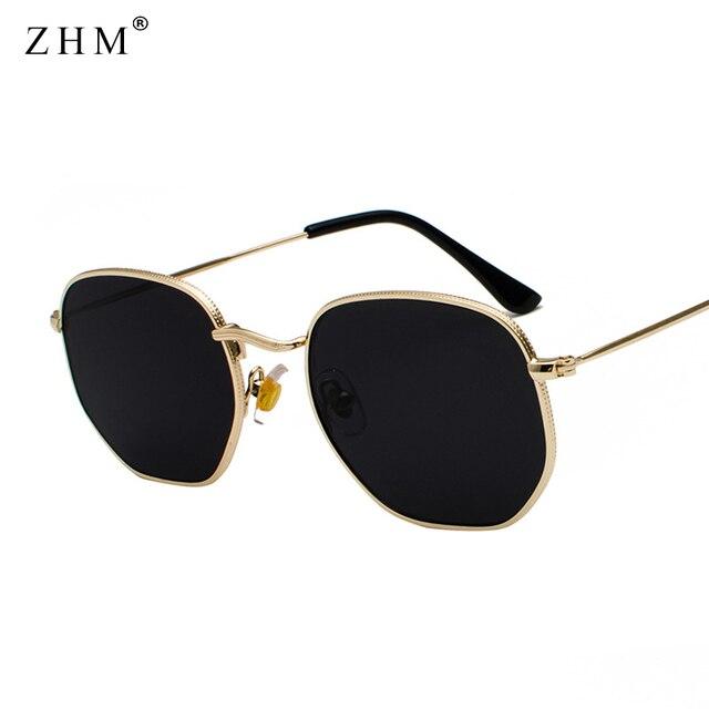 2020 Vintage Sunglasses Men Square Metal Frame Sunglasses Pilot Mirror Classic Retro Sun Glasses Women Luxury Summer  Eyewear