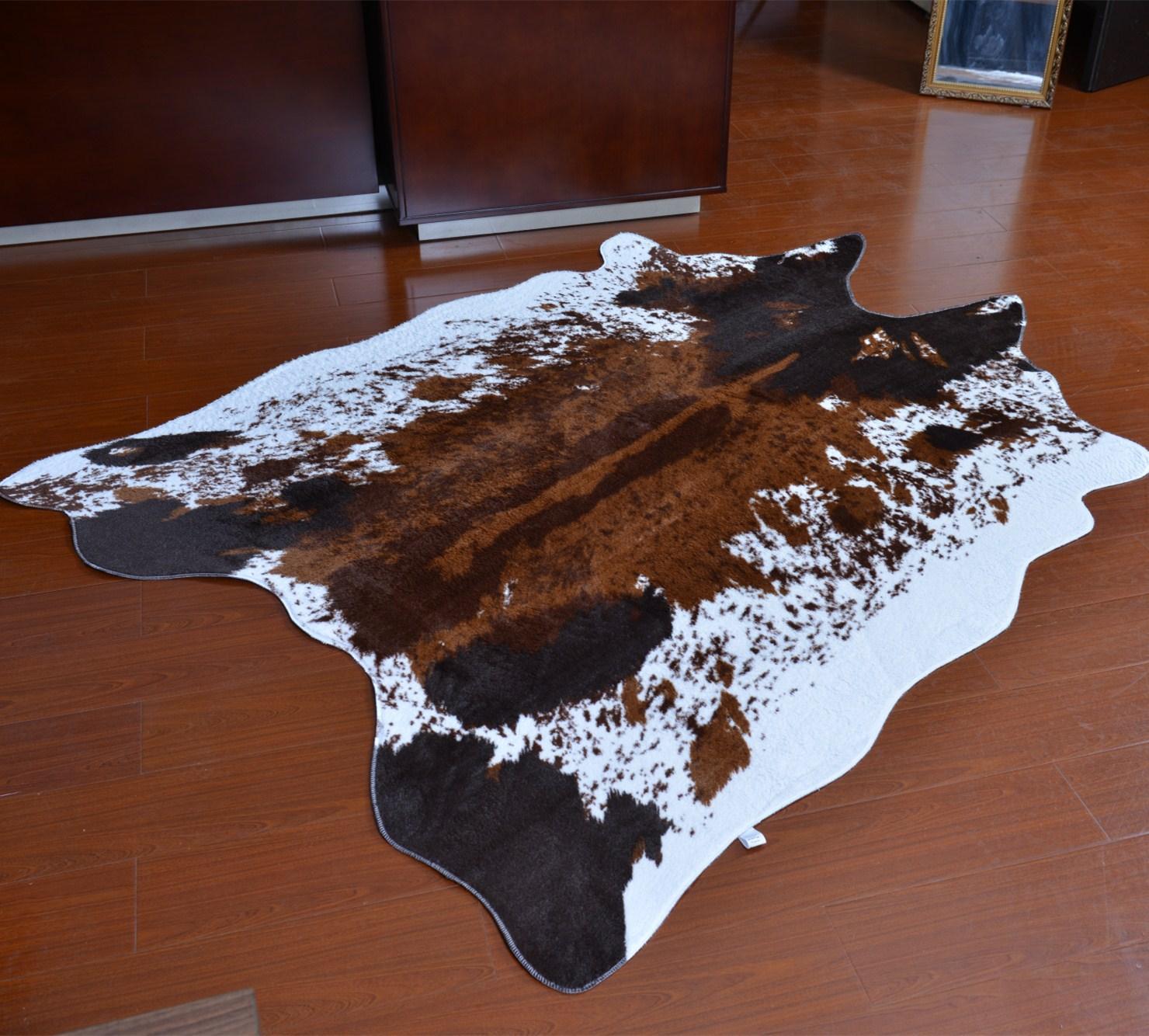 PV المخملية تقليد جلود السجاد و السجاد بقرة زيبرا السجاد 145*200 سنتيمتر السجاد لغرفة المعيشة غرفة نوم كبيرة الحجم حصيرة alfombra