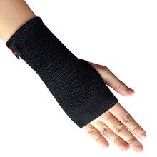 Kuangmi 1 PC Elastische Sport Armband Handgelenk Brace Unterstützung Compression Sleeve Palm Protector CrossFit Fitness Handschuhe Karpaltunnel
