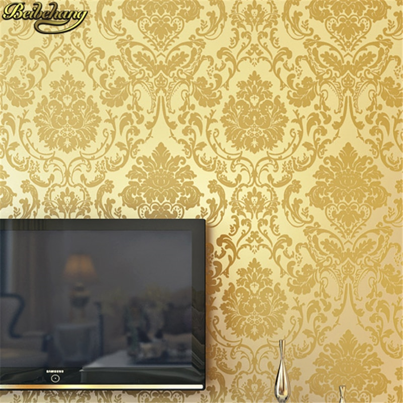 beibehang custom european damascus wallpapers for living room photo mural wall papers home decor 3d wallpaper for bedroom walls beibehang 53X500cm European Damascus self adhesive wallpaper for walls 3 d mural wall papers home decor living room bedroom roll