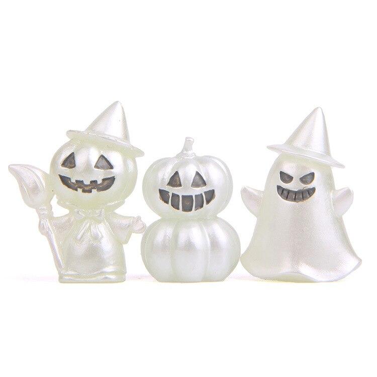 3 pcs Luminous Árvore Elfos Brinquedo Hallowmas Abóbora Fantasma Diabo Figura de Ação Ornamento Desk/Jardim Enfeites Para Casa de Boneca