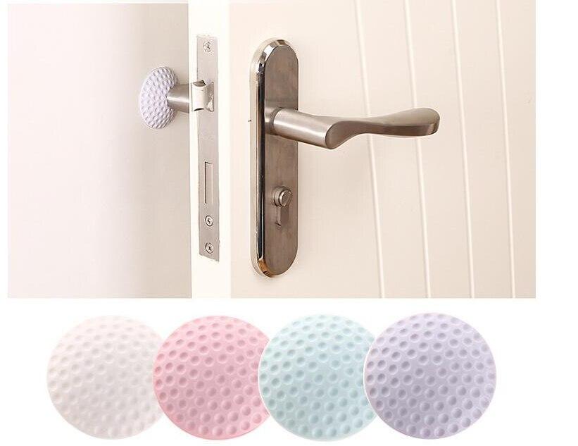 1PCS Self Bumper Silicone Anti-Skid Round Door Pad Handle Knob Adhesive 3D Crash Pad Wall Protector Handle Various