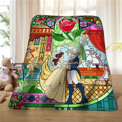 Manta personalizada Beauty-Rose and-Beast- (1) de lana suave DIY tu foto decorativa sofá de dormitorio Multi tamaño #929-02-001-64