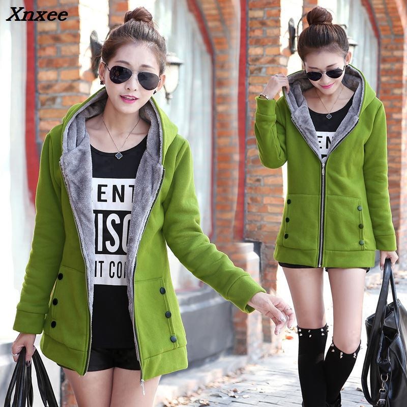 Xnxee New fashion 2018 autumn and winter warm womens coat thickening Parkas female jackets