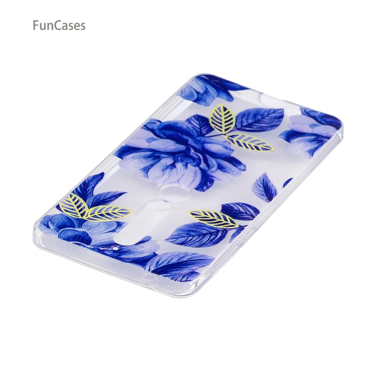 50 patterns! Flower Case sFor Hoesje Nokia 6 2018 Soft TPU Phone Case Carcasas Exotic Cellphone Case sFor Nokia 6 2018 Husa Skal