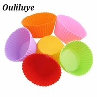 612pcs silicone moulds for baking muffin cupcake molds convenient baking cake decorating diy silicone forms mold random color