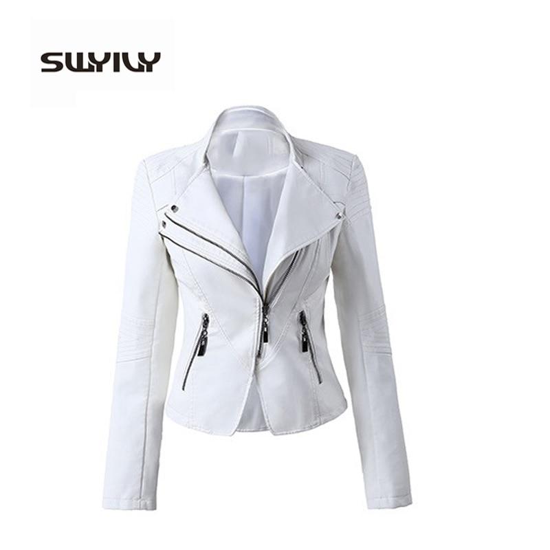 2016 брендовые Куртки из искусственной кожи, женское кожаное пальто белого, красного, черного цвета, мотоциклетные крутые куртки, куртки, женс...