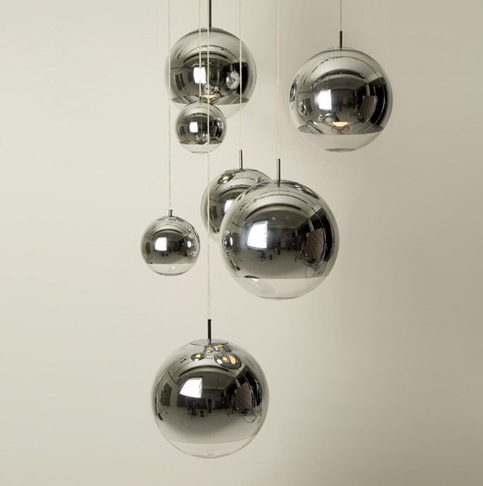 HAIXIANG Modern Dining Room Glass Plating Lightgs LED Pendant Light Kitchen Island Ceiling Lamp Chro