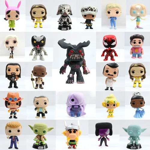 Imperfect Pop Steven Universe, Donald John Trump, Venom, de la Guerra de Las Galaxias Yoda, modelo de figura de juguete suelto, juguete barato sin caja