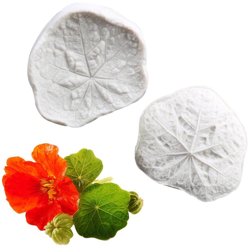 Molde de silicona con relieve de pétalos de flor de hoja de loto, utensilios para decoración de tortas con fondant, caramelo, Chocolate, pasta de goma, moldes de caramelo de arcilla