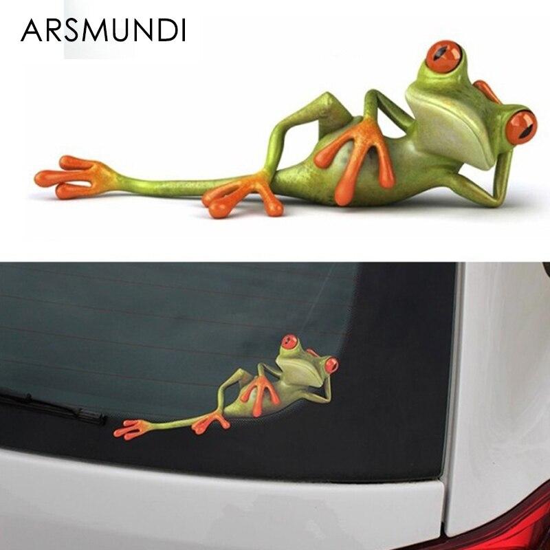 Забавные наклейки для автомобиля 3D Frogs, Виниловая наклейка для стайлинга автомобиля, украшения, высокая температура и водонепроницаемость