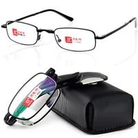 2019 shuaidi pu case belt portable foldable noble wear anti reflection coated reading glasses1 0 1 5 2 0 2 5 3 0 3 54 0