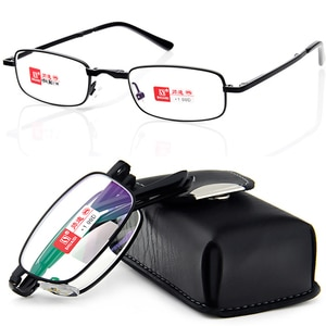 2019 Shuaidi Pu Case Belt Portable Foldable Noble Wear Anti-reflection Coated Reading Glasses+1.0 +1.5 +2.0 +2.5 +3.0 +3.5+4.0