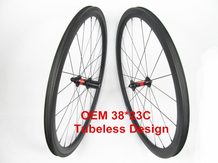 FSC38-CM-23 sin tubo Farsport DT240 38 m, rueda sin cámara de carretera OEM china de gama alta, juego de ruedas de 38 fibra de carbono clincher