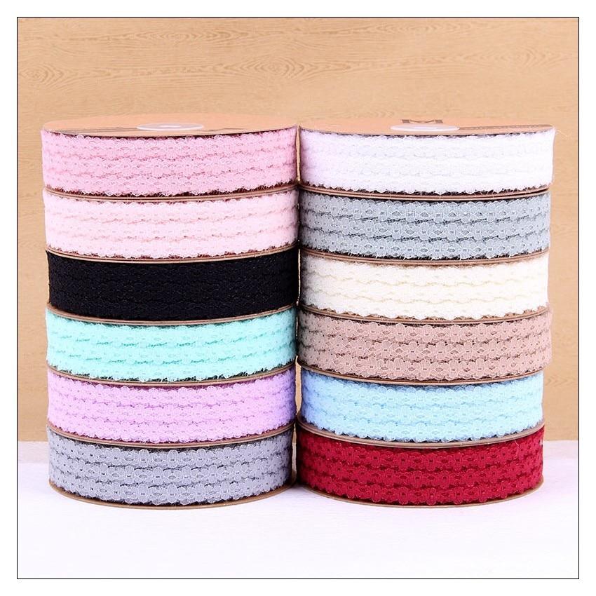 35 yardas cinta de encaje elástica de alta calidad 30mm de ancho encaje bordado Algodón elástico encaje adornos recortables para coser